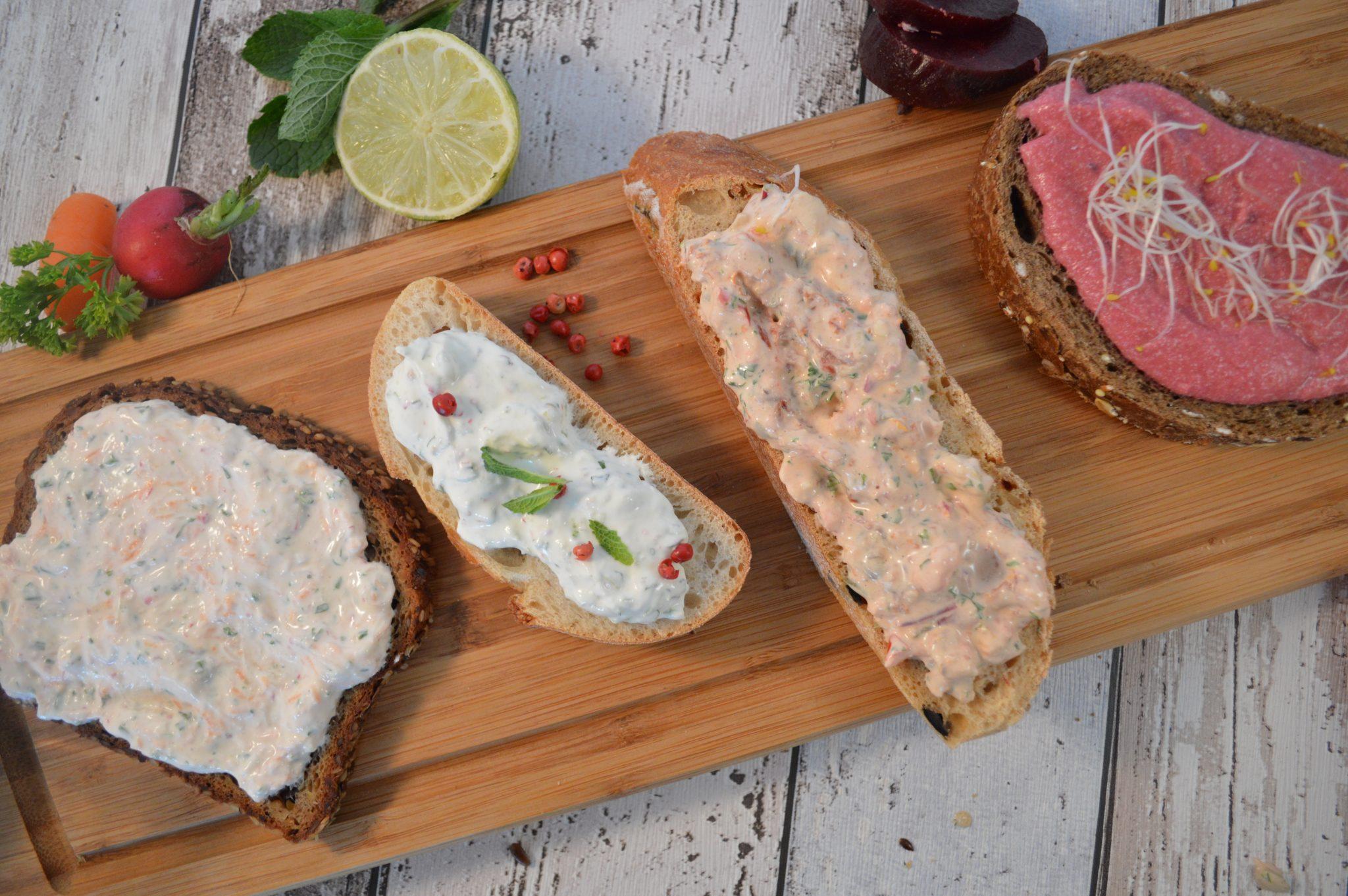 Huisgemaakte spreads voor op brood