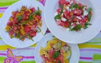 Watermeloen salade op drie manieren