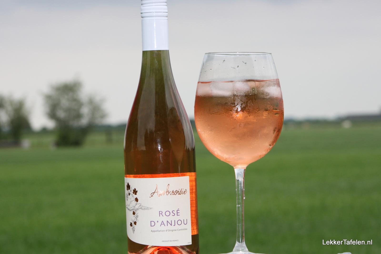 Rosé d' Anjou zoete wijnen