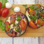 Gevulde Portobello; met Italiaanse smaken gevuld