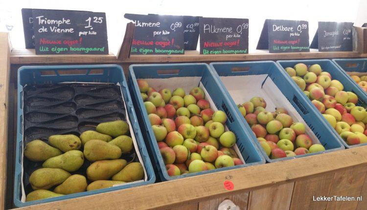 Nieuwe oogst appels en peren
