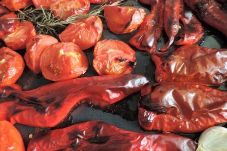 Paprikasoep van gegrilde paprika's