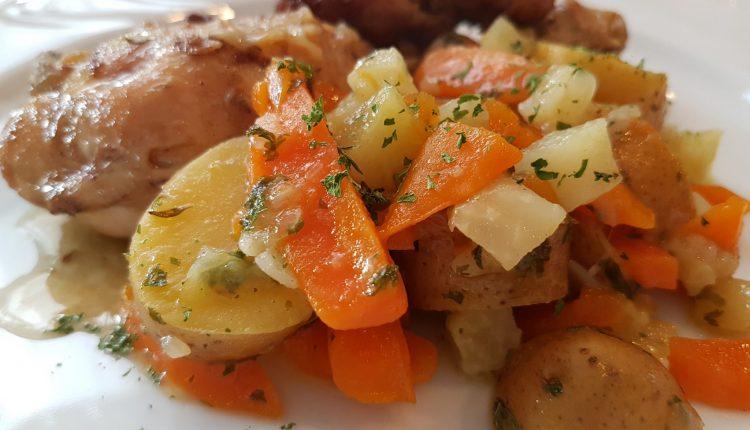 Aardappelpannetje met koolrabi