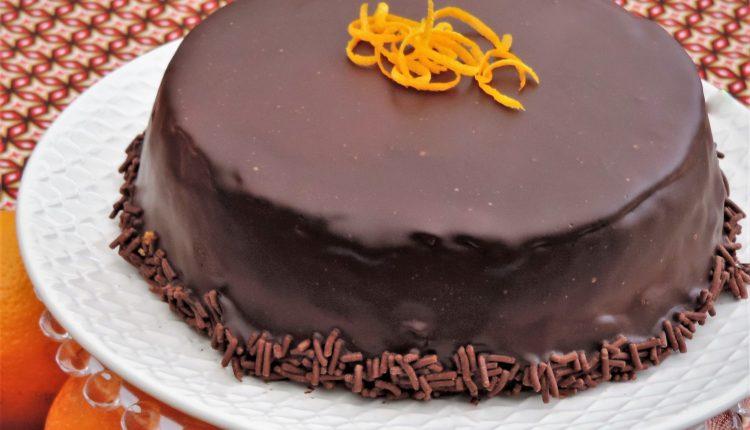 chocoladelaag over taart Chocolade sinaasappel taart   Lekker Tafelen chocoladelaag over taart