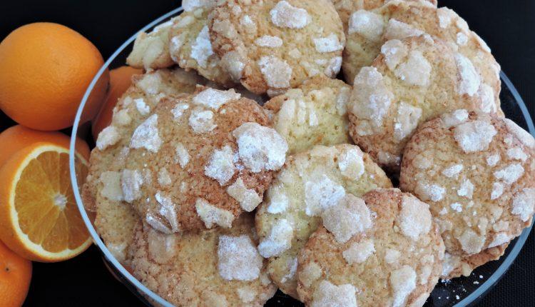 Sinaasappel crinckle cookies