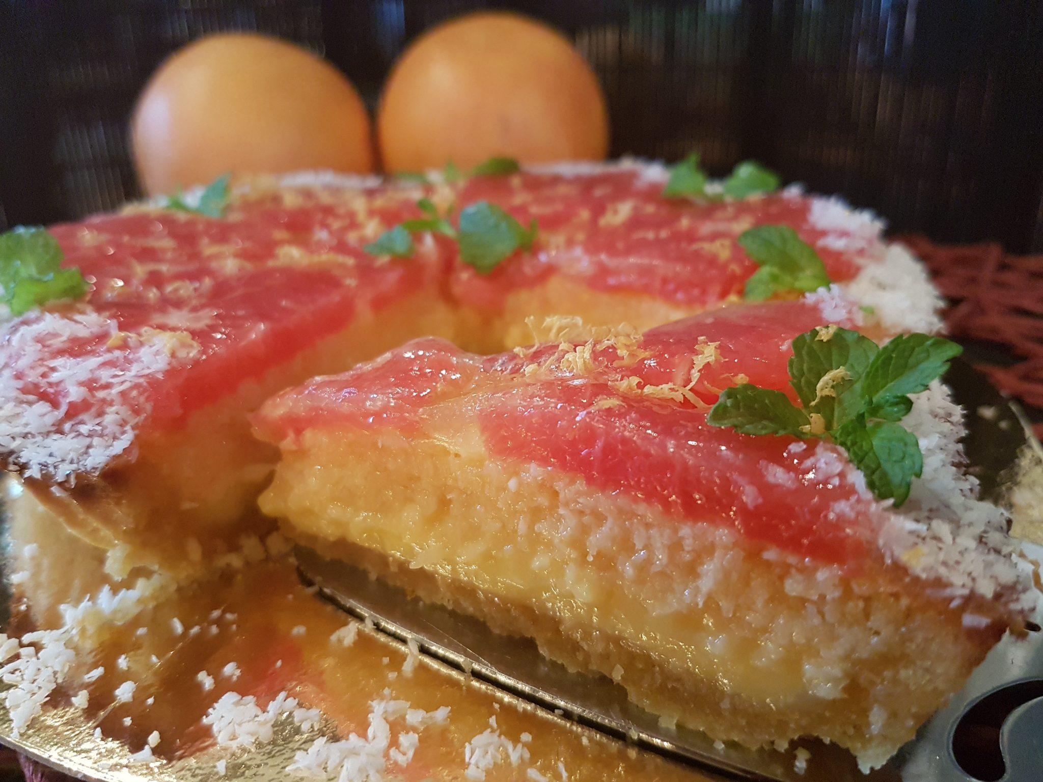 Rode grapefruittaart