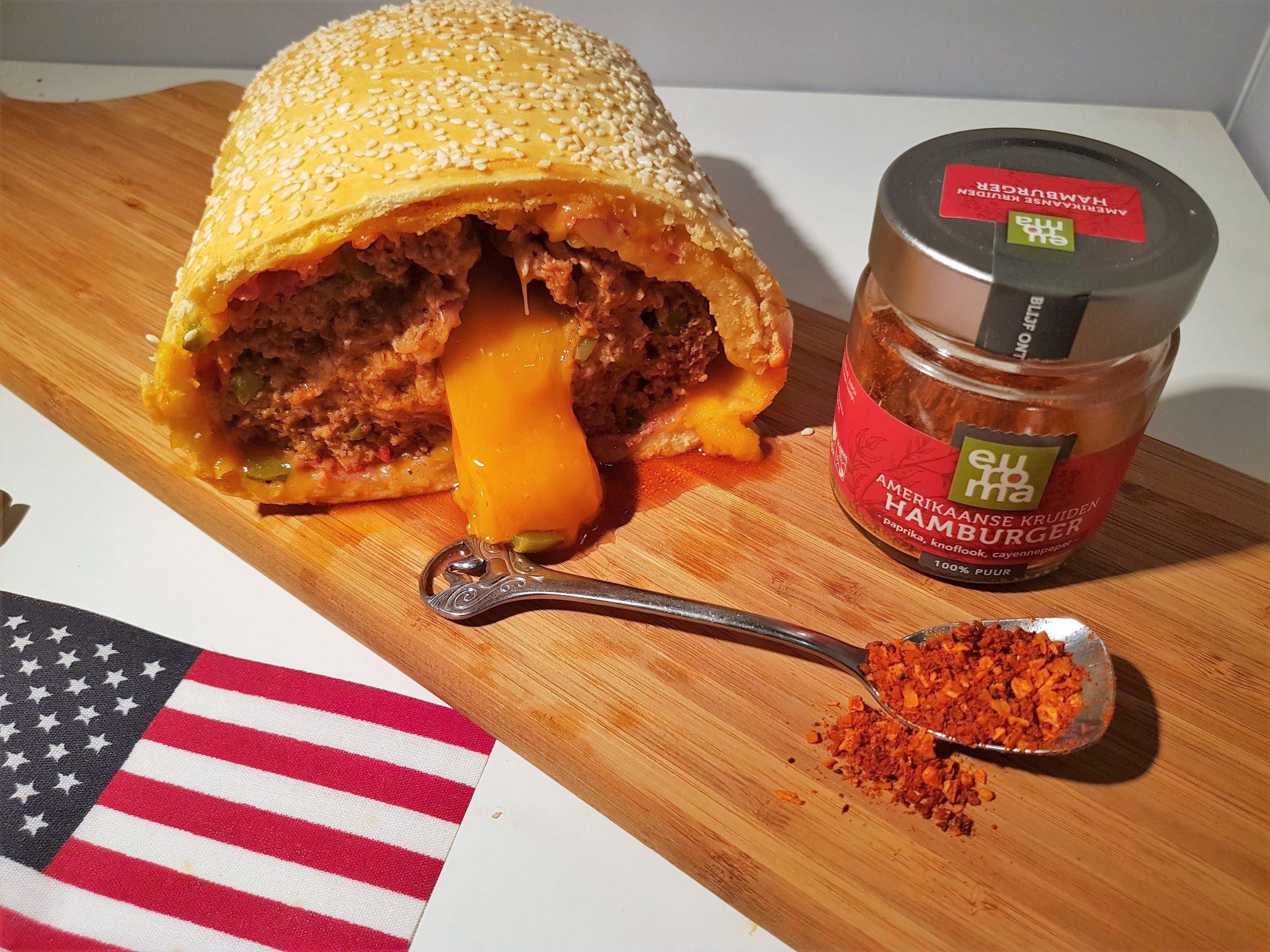 Amerikaans cheeseburgerbrood