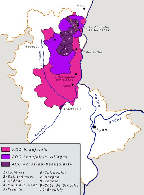 De Cru's van de Beaujolais streek