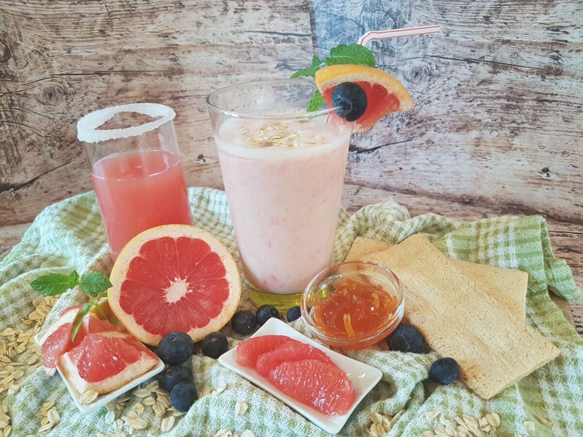 Ontbijten met grapefruit