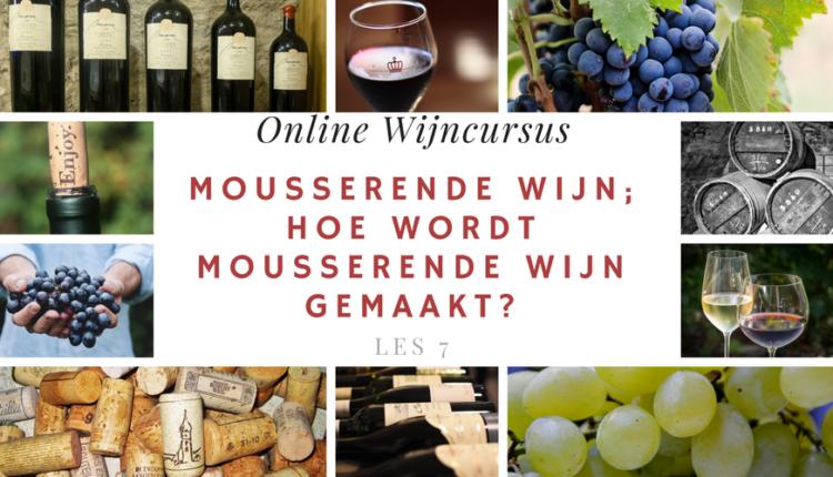 Online Wijncursus - Mousserende wijn; Hoe wordt mousserende wijn gemaakt - les 7