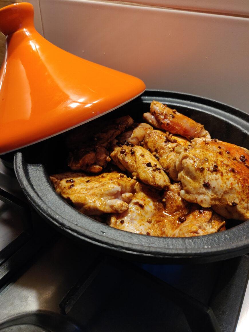 Gestoofde kippendijen uit de tajine recept