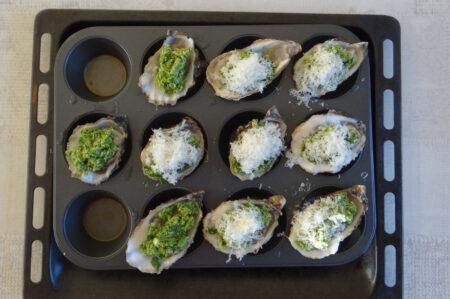 Klassieke oesters Rockefeller oven