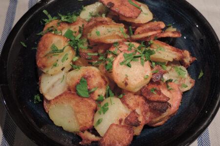 gebakken aardappels recept rauw zonder blancheren