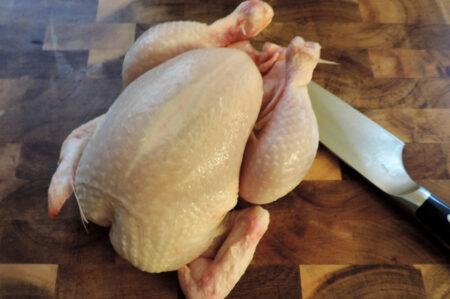 hele kip snijden