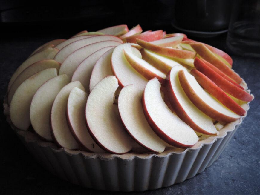 Appeltaart met abrikoos recept