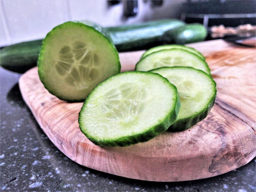Komkommer gesneden