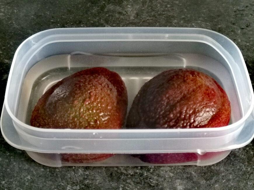 gesneden avocado bewaren